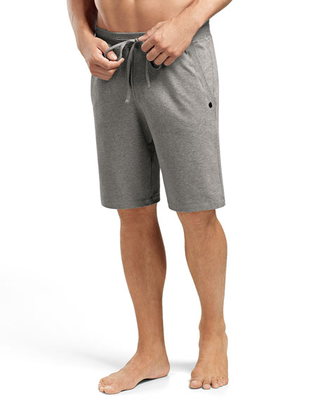 Hanro Luis Drawstring Sweat Shorts, Light Gray