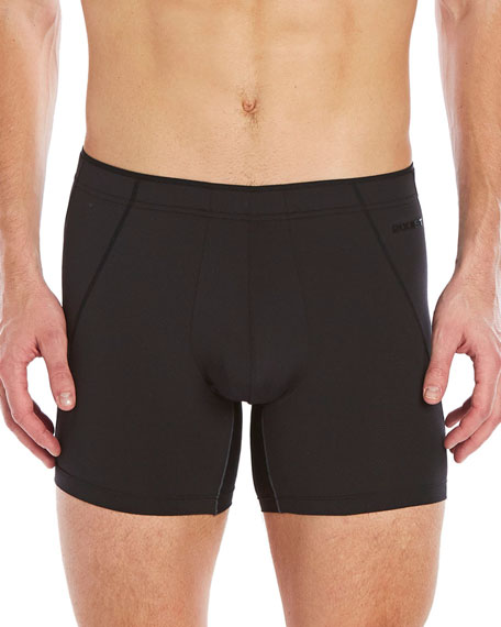 2Xist Tech Performance Mesh No-Show Boxer Briefs, Black