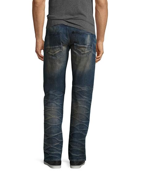 PRPS Porous Barracuda Straight-Leg Jeans, Indigo