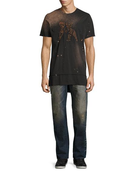 Porous Barracuda Straight-Leg Jeans, Indigo