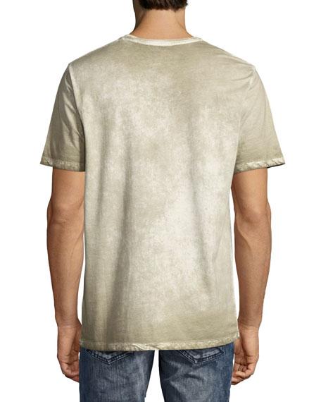 Permafrost Paint Cherub Logo-T-Shirt, White/Beige/Brown