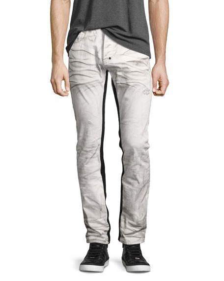 PRPS Demon Binary Slim-Straight Jeans with Tuxedo Stripe,