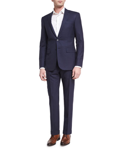 Tonal Windowpane Two-Piece Suit, Navy