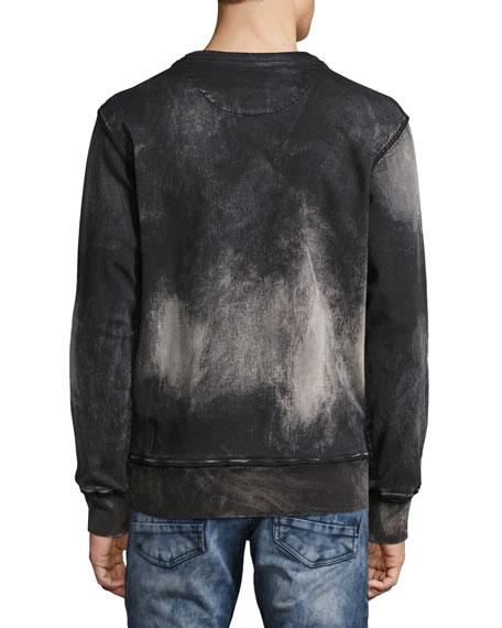 Universal Fleece Crewneck Sweatshirt with Drawstring, Black
