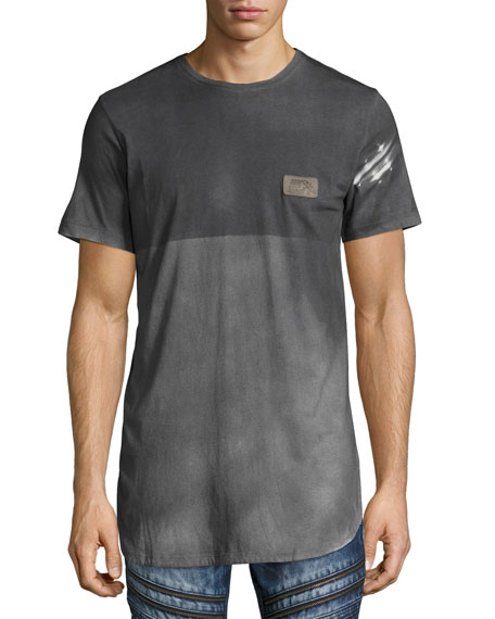 PRPS Reflector Two-Tone Elongated T-Shirt, Gray