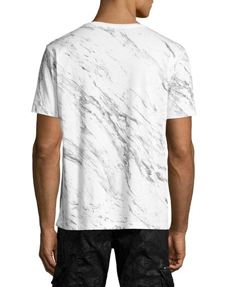 Explosion Marble Logo T-Shirt, White