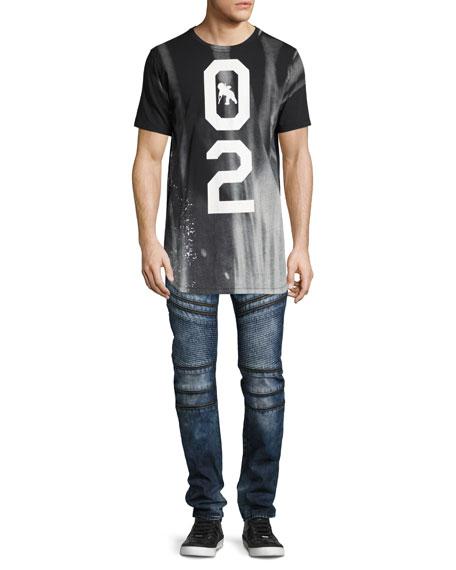 Demon Moto Slim-Straight Jeans, Krill Dark Wash (Indigo)