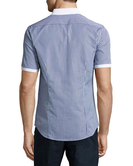 Present Flat-Knit Polo Shirt, Navy