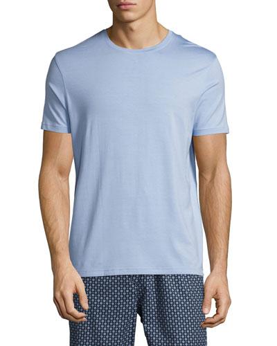 Basel Crewneck Lounge T-Shirt, French Blue