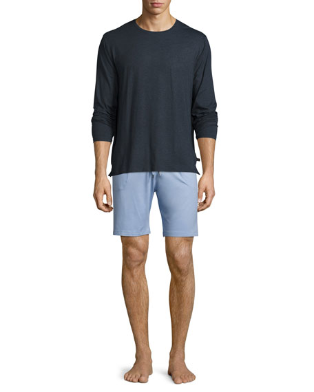 Basel Jersey Lounge Shorts, French Blue
