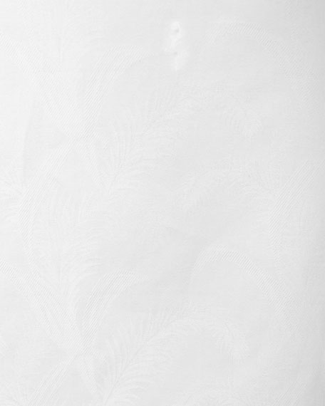 R by Robert Graham Jungle Tonal Jacquard Sport Shirt, White