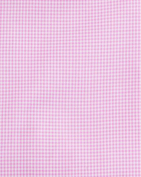 Mini-Check Dress Shirt, Pink