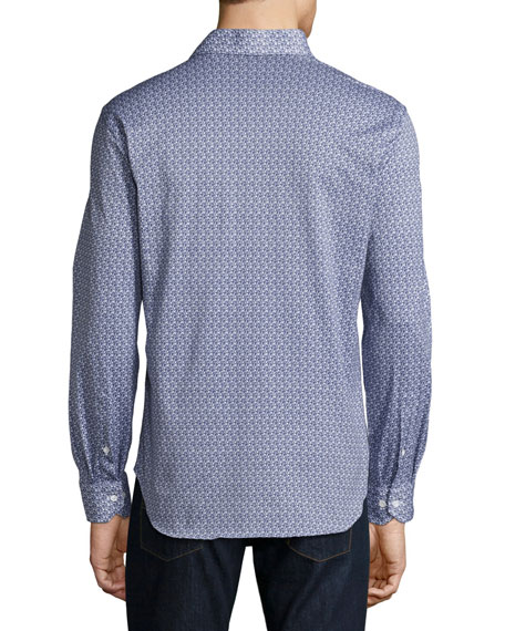 R by Robert Graham Guitar-Print Sport Shirt, Navy