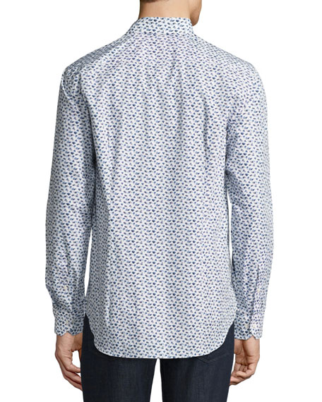 R by Robert Graham Snapshot Camera Sport Shirt, White