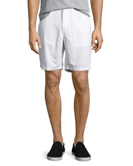 Michael Kors Tailored Cotton Chino Shorts, White