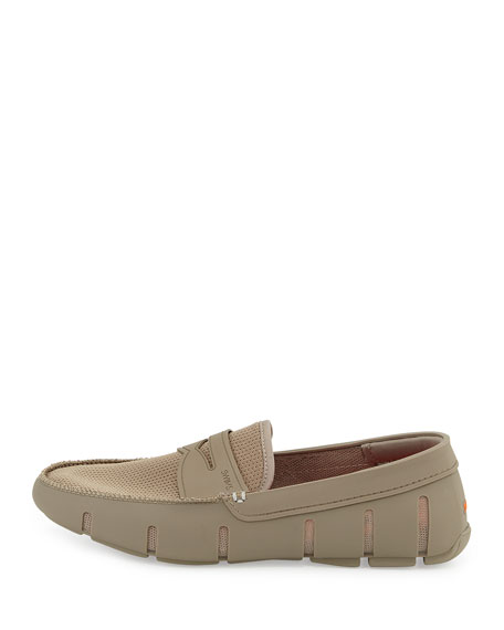 Rubber Penny Loafer, Khaki