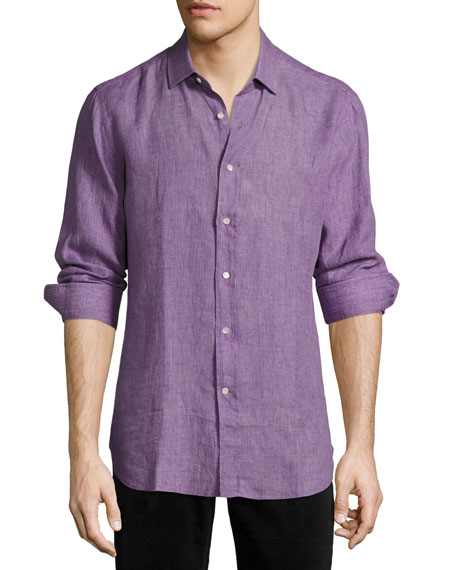 R by Robert Graham Delave Linen Sport Shirt