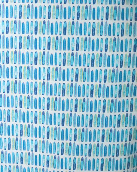 R by Robert Graham Surfboard Sport Shirt, White/Blue