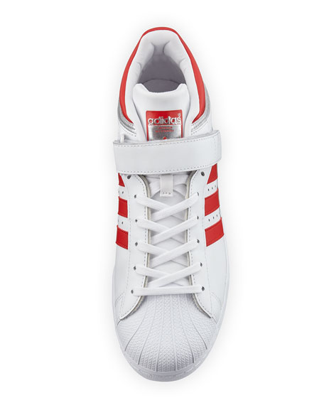 Men's Pro Shell Low-Top Sneaker, White/Red