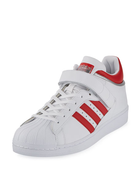 Adidas Men's Pro Shell Low-Top Sneaker, White/Red