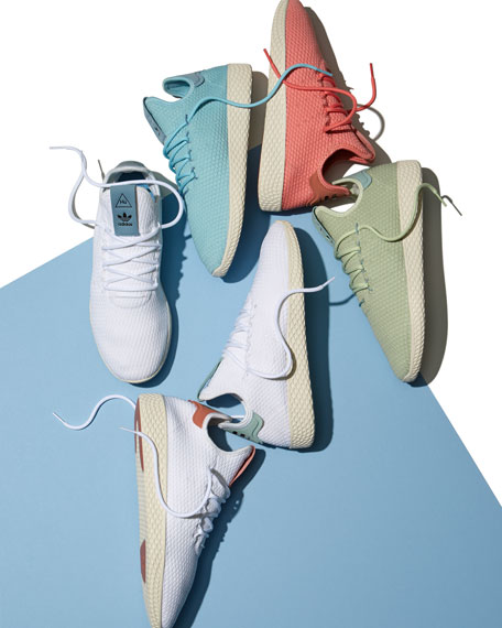 x Pharrell Williams Men's Hu Race Tennis Sneaker, Pink