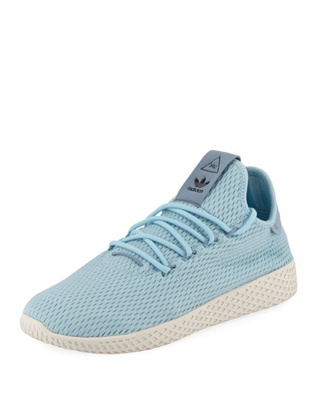 x Pharrell Williams Men's Hu Race Tennis Sneaker, Blue