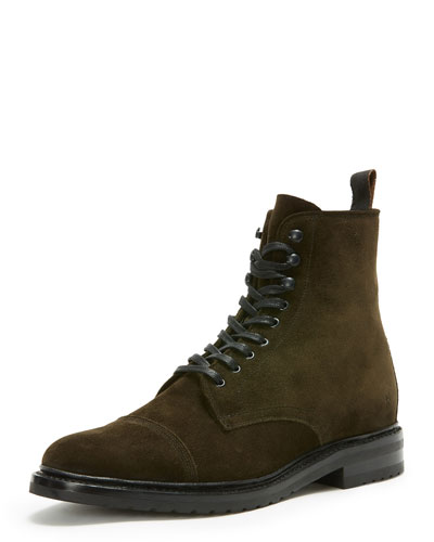Men's Officer Lace-Up Boot, Green