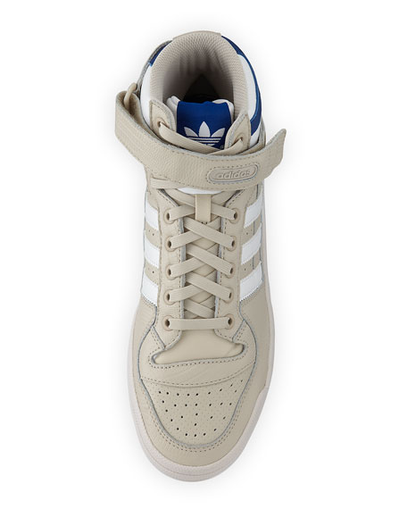 Men's Forum Leather Mid-Top Sneaker, Beige