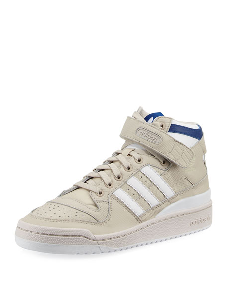 Adidas Men's Forum Leather Mid-Top Sneaker, Beige