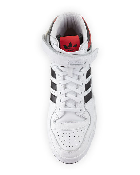 Men's Forum Leather Mid-Top Sneaker, White