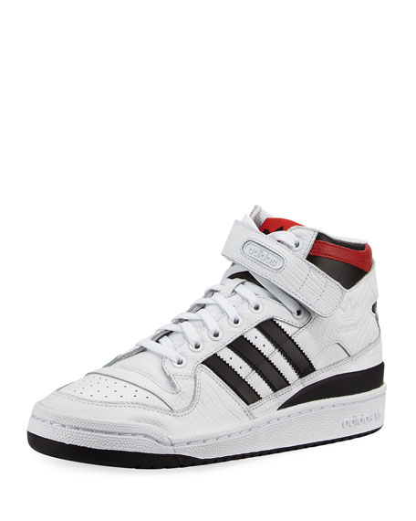 Adidas Men's Forum Leather Mid-Top Sneaker, White