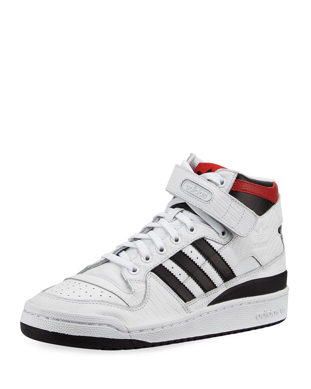 buy online 6b66c aa252 Adidas Men s Forum Leather Mid-Top Sneaker, ...