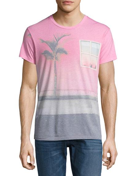 Sol Angeles Casa de Rosa Crewneck T-Shirt, Pink