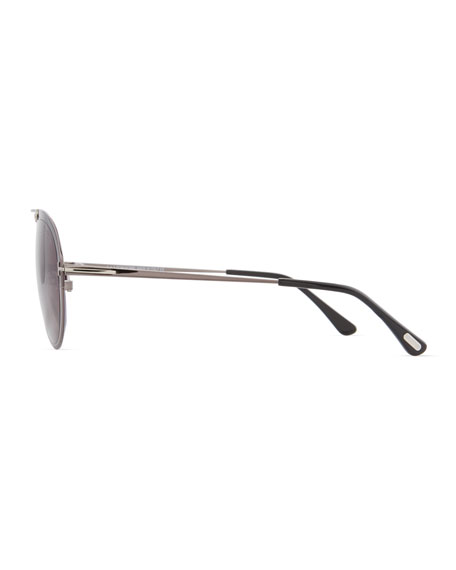 Dashel Aviator Sunglasses, Gunmetal