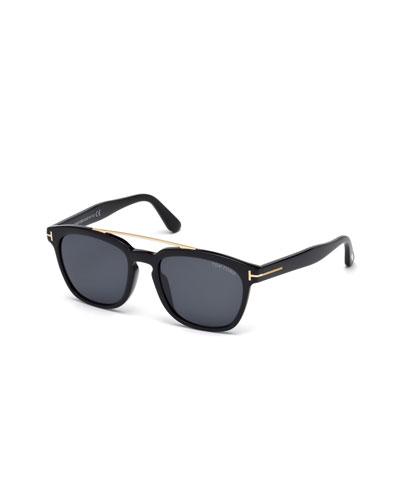 Holt Square Acetate Sunglasses, Black