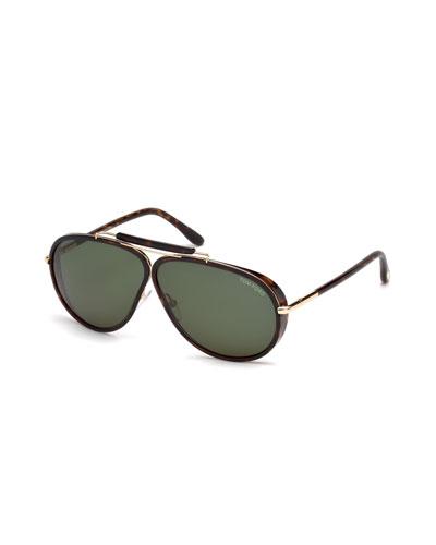 mini aviator sunglasses xwtd  Cedric Acetate Aviator Sunglasses, Tortoiseshell