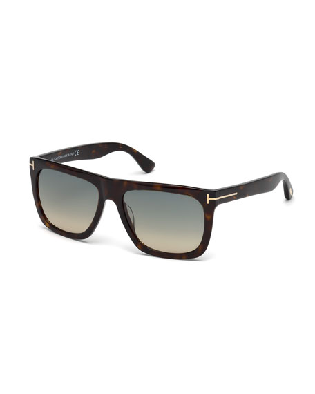 Sunglasses Tom Ford  tom ford morgan thick square acetate sunglasses tortoises