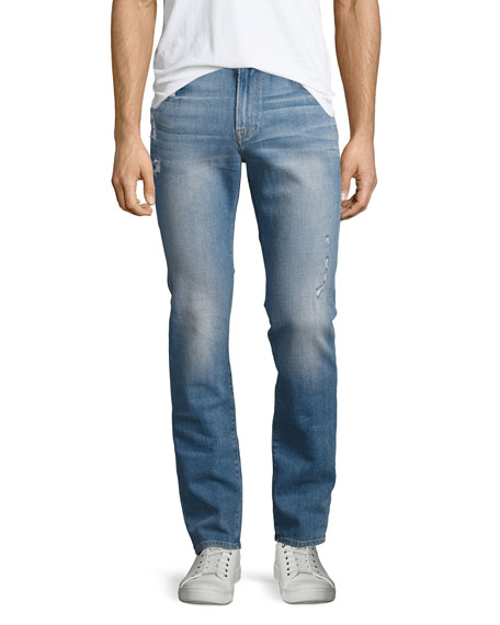 FRAME L'Homme Distressed Skinny Jeans, Barkley