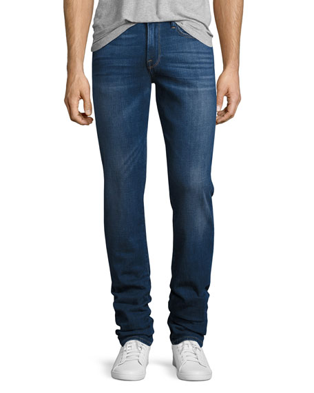 FRAME L'Homme Slim-Straight Denim Jeans, Pipestone (blue)