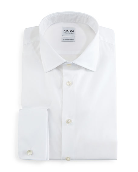 Modern-Fit Dress Shirt, White