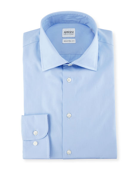 Armani Collezioni Modern-Fit Poplin Dress Shirt