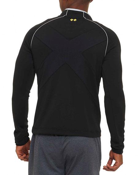 Knit Half-Zip Sweatshirt, Black