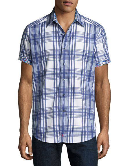 Robert Graham East Timor Plaid Short-Sleeve Sport Shirt,
