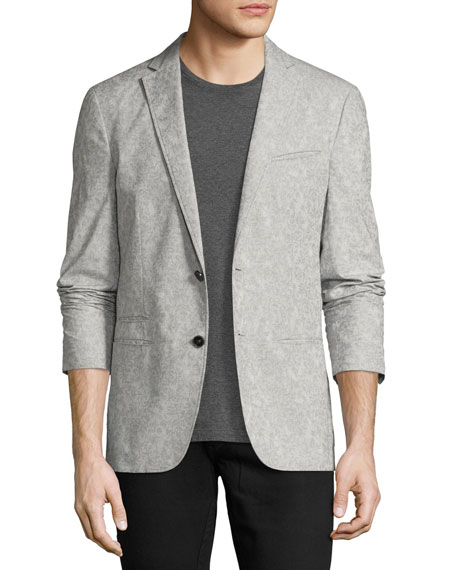 Thompson Paisley Jacquard Sport Coat, Gray