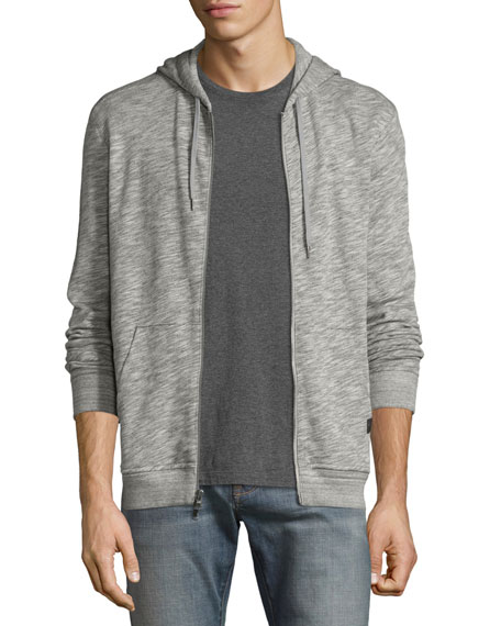 John Varvatos Star USA Slub Terry Zip-Front Hoodie,