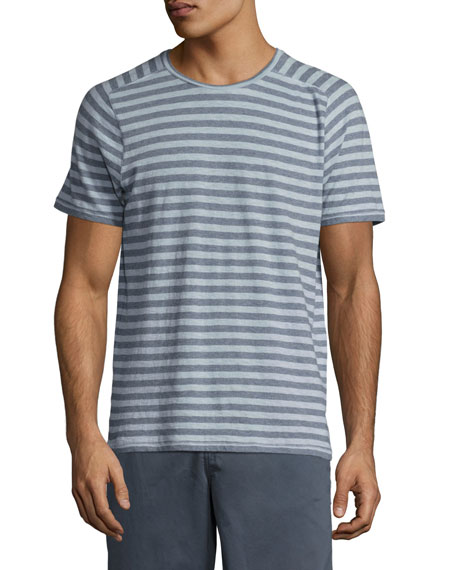 John Varvatos Star USA Striped Short-Sleeve T-Shirt, Blue