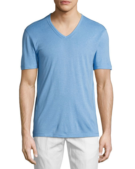John Varvatos Star USA V-Neck Jersey T-Shirt, Blue