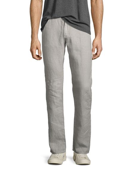 John Varvatos Star USA Authentic Linen Jeans, Gray