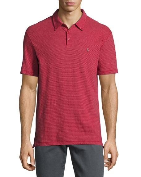 John Varvatos Star USA Reverse-Print Jersey Polo Shirt,