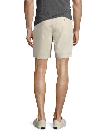 Tailored Cotton Chino Shorts, Stone